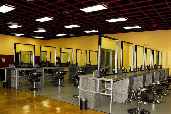This Two Story 15000 Square Foot State Of The Art Cosmetology Academy Was An Interior Build Out A Former Grocery Store That Had Been Converted Into
